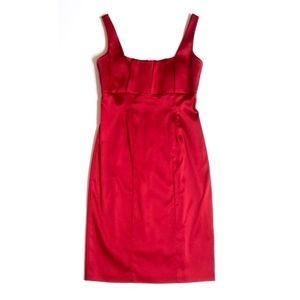 Calvin Klein Red Satin Cocktail Party Dress